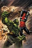Incredible Hulks No627 Cover: Hulk and Red She-Hulk Fighting