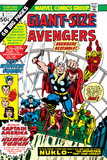 Giant-Size Avengers No1 Cover: Thor  Captain America  Iron Man  Vision and Scarlet Witch Charging