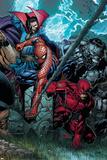Ultimatum No4 Cover: Spider-Man  Daredevil  Dr Strange and Hulk