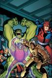 Avengers Classic No2 Cover: Hulk  Giant Man  Iron Man  Thor and Space Phantom