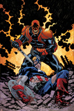 Captain America V4  No32 Cover: Red Skull and Captain America Fighting