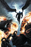 Ghost Riders: Heavens on Fire No6 Cover: Ghost Rider and Zadkiel