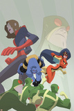 Marvel Adventures Super Heroes No16 Cover: Beast  Spider Woman and Giant Girl
