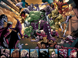 Avengers: The Initiative No4 Group: Hulk  Korg  Miek  No-Name  Hiroim and Elloe Kaifi