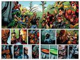 Secret Invasion No1 Group: Iron Fist  Cage  Luke  Iron Man and Wonder Man