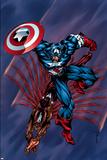 Captain America & The Falcon No4 Cover: Captain America and Falcon