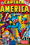 Captain America No16 Cover: Captain America  Red Skull and Bucky Fighting