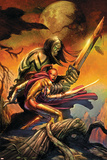 Skaar: Son Of Hulk Cover: Skaar and Omaka