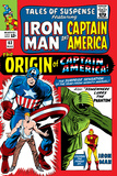 Tales Of Suspense No63 Cover: Iron Man  The Phantom  Captain America  Rogers and Steve