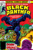 Black Panther No.7 Cover: Black Panther Fighting Reproduction d'art par Jack Kirby