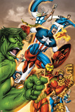 Onslaught Reborn No5 Cover: Captain America  Hulk and Iron Man