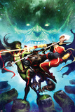 Guardians Of The Galaxy No5 Cover: Quasar  Gamora and Rocket Raccoon