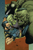 Ultimate Wolverine vs Hulk No4 Cover: Wolverine  Hulk and She-Hulk