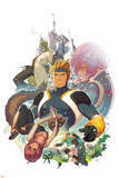 I Heart Marvel: Masked Intentions No1 Cover: Justice  Speedball  Squirrel Girl and Firestar