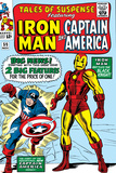 Tales Of Suspense No59 Cover: Iron Man and Captain America Charging