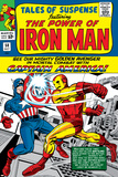 Tales Of Suspense No58 Cover: Iron Man and Captain America Fighting