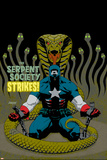 Captain America V4  No31 Cover: Captain America and Serpent Society Crouching