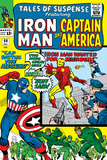 Tales Of Suspense No60 Cover: Iron Man  Captain America  Hawkeye and Assasin Fighting