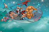 Alpha Flight No6 Group: Nemesis  Sasquatch  Major Mapleleaf  Yukon Jack and Alpha Flight Fighting