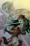 Dark Reign: Elektra No3 Cover: Elektra