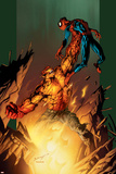 Ultimate Spider-Man No77 Cover: Hobgoblin and Spider-Man Fighting and Flying