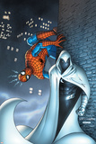 Marvel Team Up No7 Cover: Moon Knight and Spider-Man