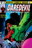 Daredevil No163 Cover: Hulk and Daredevil Fighting