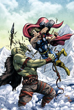 Marvel Adventures Super Heroes No11 Cover: Thor