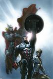 Secret Invasion No8 Cover: Captain America  Wolverine and Thor