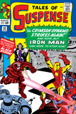Tales Of Suspense No52 Cover: Crimson Dynamo  Iron Man and Black Widow Fighting