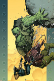 Ultimate Wolverine vs Hulk No6 Cover: Hulk and Wolverine