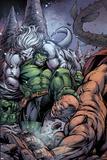 Incredible Hulks No631 Cover: Hulk and Wendigo Fighting