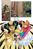 Wolverine And Power Pack No1 Group: Wolverine  Zero-G  Mass Master  Lightspeed and Energizer