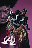 New Avengers 8 Cover: Medusa  Black Bolt  Lockjaw  Gorgon  Triton  Crystal  Karnak  Maximus