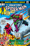 Amazing Spider-Man No122 Cover: Spider-Man  Gwen Stacy  and Green Goblin Flying