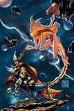 Stormbreaker: The Saga Of Beta Ray Bill No3 Cover: Stardust and Beta-Ray Bill Flying