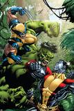 X-Men Vs Hulk No1 Cover: Wolverine  Colossus and Hulk