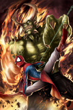 Spider-Man India No4 Cover: Spider-Man and Green Goblin
