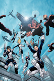 New X-Men No16 Group: Hellion  Moonstar  Quill  Surge  Synch and Wind Dancer