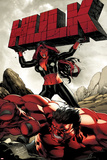 Hulk No47 Cover: Red She-Hulk and Red Hulk