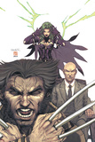 Uncanny X-Men No443 Cover: Wolverine  Polaris and Professor X