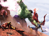 New Avengers Annual No1: Hulk and Thor Fighting