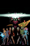 Avengers AI 6 Cover: Iron Man  Vision  Alexis  Doombot  Pym  Hang  Chang  Monica  Mancha  Victor