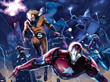 New Avengers Annual No1: Iron Patriot  Sentry  Wolverine  and Hawkeye Flying