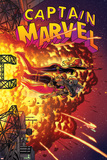 Captain Marvel 16 Cover: Captain Marvel  Spider Woman  Hawkeye