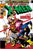 X-Men Annual No3 Cover: Cyclops  Arkon and X-Men