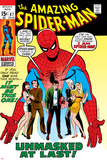 Amazing Spider-Man No87 Cover: Spider-Man  Mary Jane  Gwen  Harry Osborn  and Peter Parker Posing