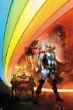 Thor: Whosoever Wields This Hammer No1 Cover: Thor near the Rainbow Bridge
