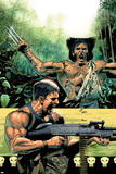 Wolverine Punisher No5 Cover: Wolverine and Punisher