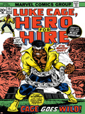 Marvel Comics Retro: Luke Cage  Hero for Hire Comic Book Cover No15  in Chains